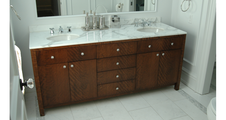 Bathroom Cabinet with Marble Top