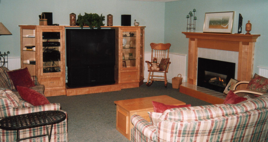 Entertainment Unit & Fireplace