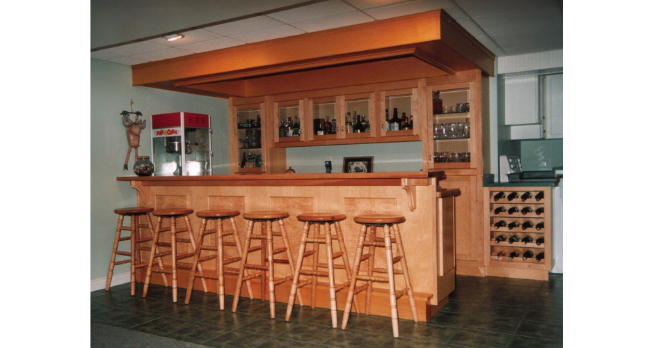 Custom Bar with Stools