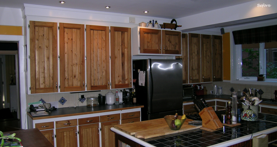 BEFORE Renovation - Old Pine Kitchen