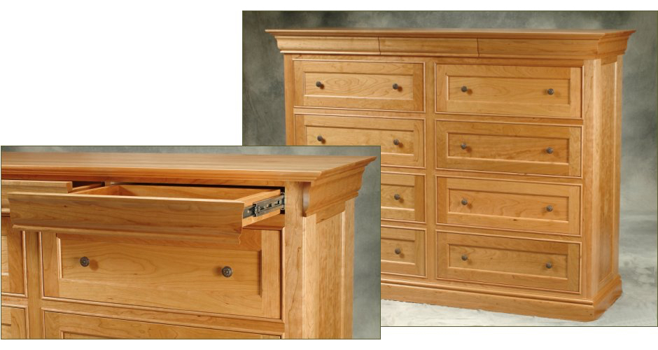 Maple Dresser with Hidden Drawers