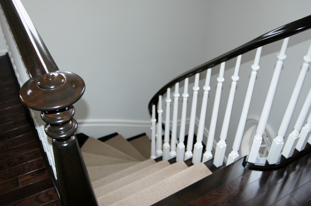 Stairs featuring handcrafted Volute
