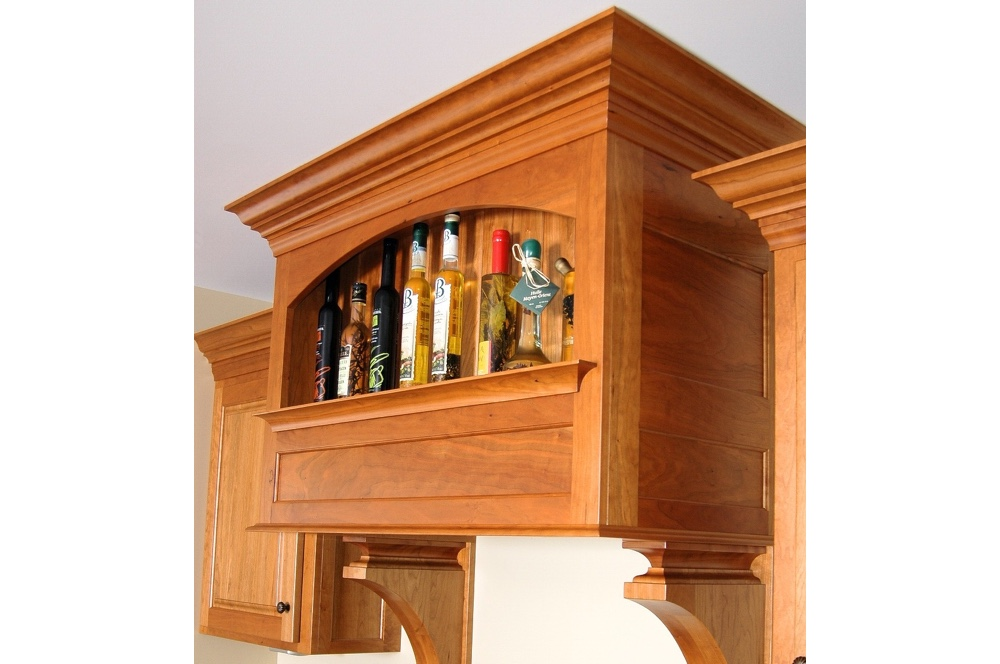 Stove Hood with Storage